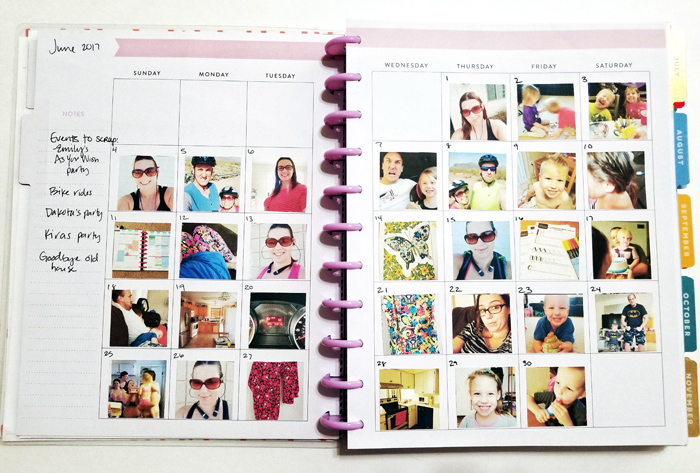 How to use digital scrapbooking supplies in your Happy Planner, memory keeping in a planner!