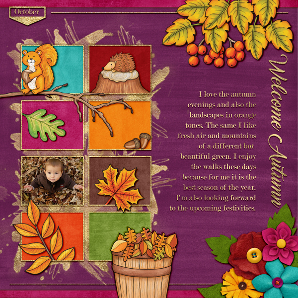 Digital scrapbook layout created with the FREE digital scrapbooking template from Kate Hadfield Designs! Ideas for scrapbook pages, layout by Creative Team member Karen