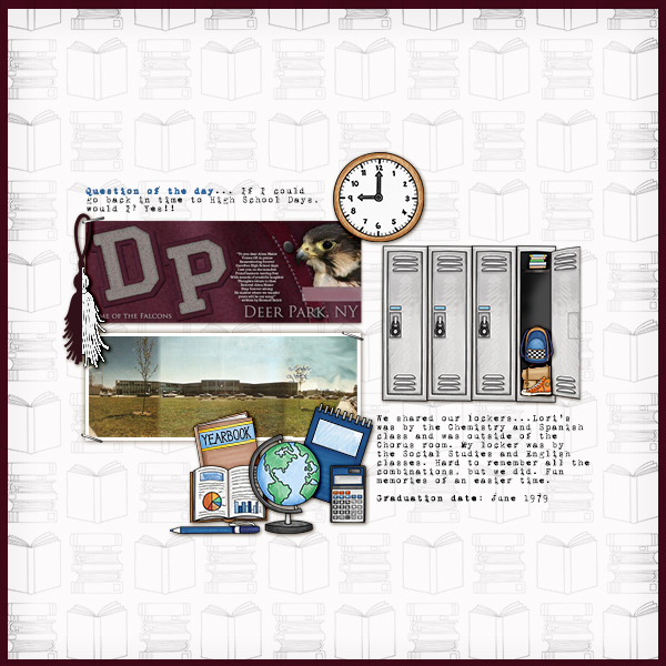 School scrapbook pages and ideas for back to school scrapbooking from the Kate Hadfield Designs Creative Team! #digitalscrapbooking #scrapbook Layout created by CT member Christa