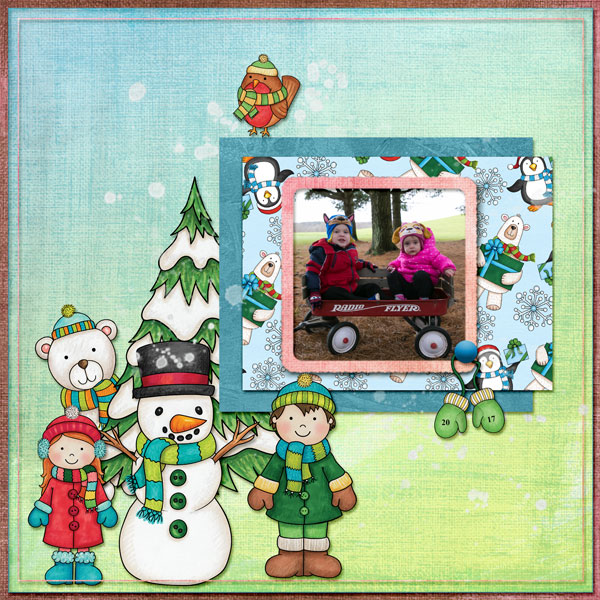 Christmas digital scrapbooking page