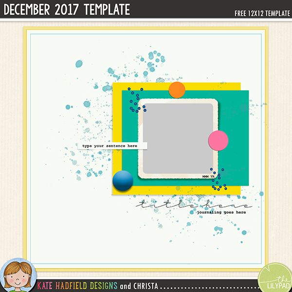 Free digital scrapbooking template / scrapbook sketch from Kate Hadfield Designs! Click for lots of digital scrapbook pages created with this fun template! Download includes PSD, Tiff, png and .page file formats (for Photoshop, Elements, Craft Artist and Artisan software users)
