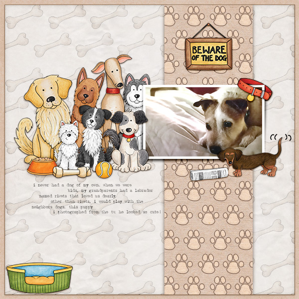 dog scrapbook layout by christa