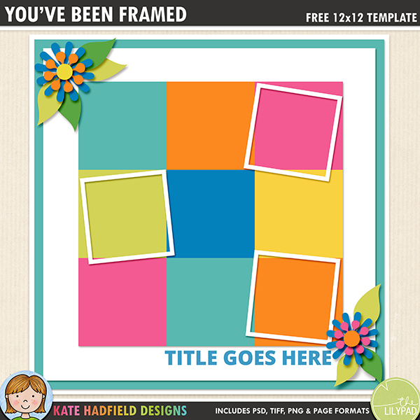Free digital scrapbooking template