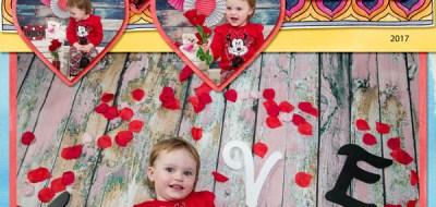 Valentine's digital scrapbook page by amy