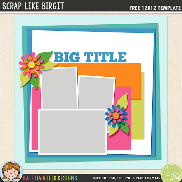 Free digital scrapbooking template Scrap Like Birgit