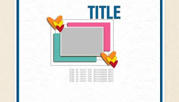 289 12x12 Digital Scrapbook Template