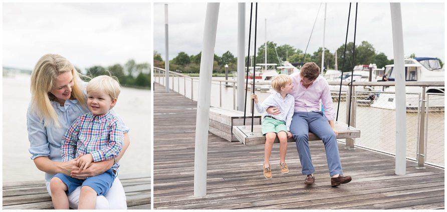 Family takes photos at The Wharf DC