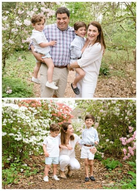 azaleas surround family