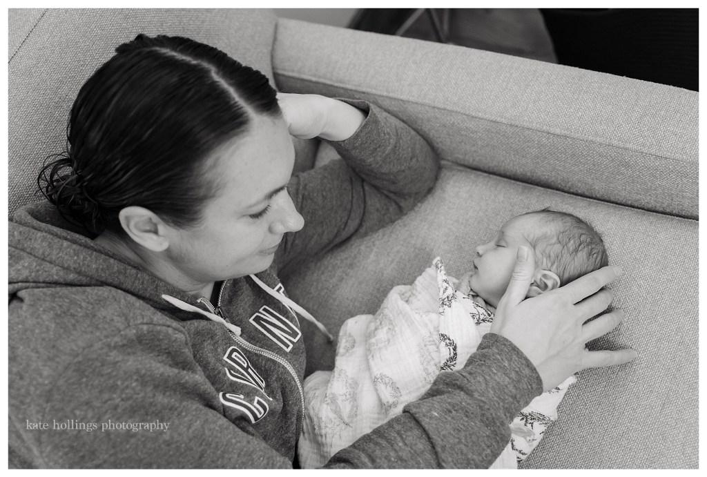 newborn girl and her mama