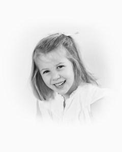 black and white portrait photograph