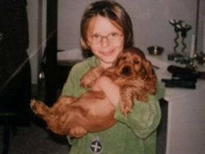 Susi und ich in jungen Jahren