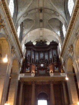 The grand pipe organ at St. Sulpice. We got to hear Daniel Roth play during and after mass...breathtaking.
