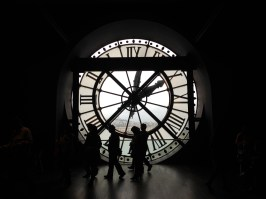 Looking out from the big clock at the Musée d'Orsay