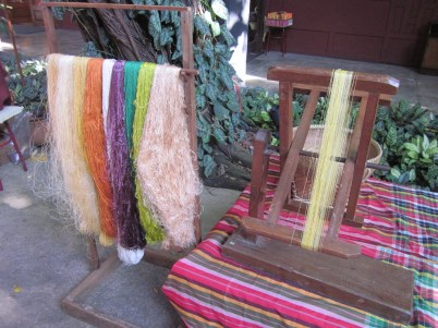 Dyed silk thread