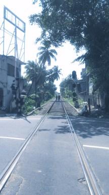 Walking the train line