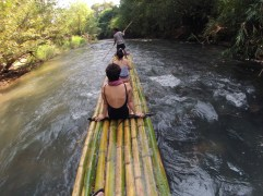 Our bamboo raft with Jecket in front...