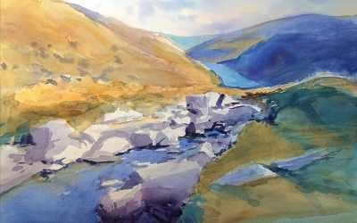 Glendalough painting