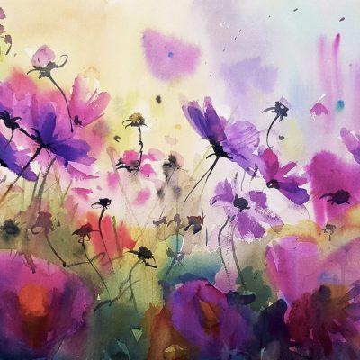 Buzz in Purple by Kate Kos
