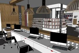 plan 3D architecture intérieur Katell Guivarch