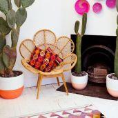 fauteuil fleur ambiance ethnique