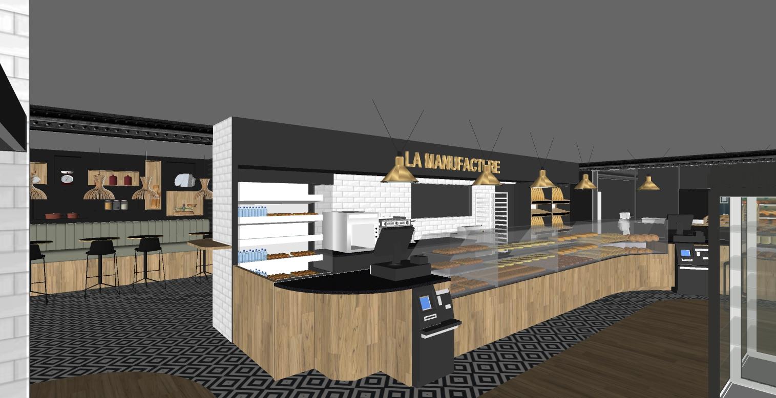 appel d'offre - vue 3d entrée boulangerie La Manufacture