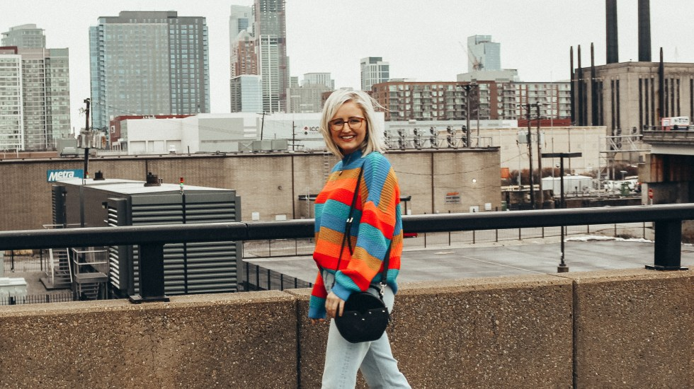 2019 Intentions in a Rainbow Sweater