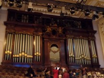 Façade of Usher Hall organ