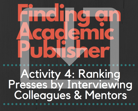 Finding an Academic Publisher_The Ultimate Workbook_Activity 4 image
