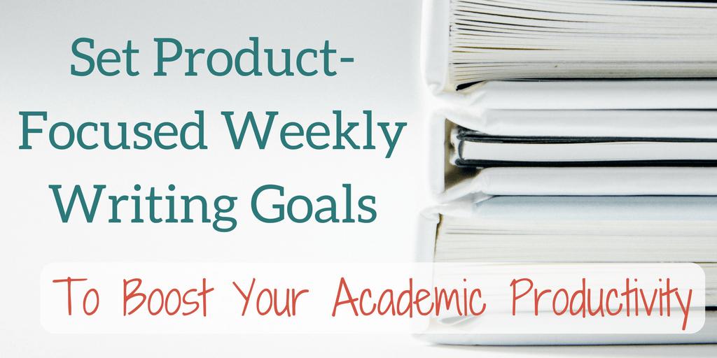 list of writing goals