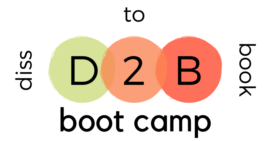 Dissertation-to-book boot camp no background