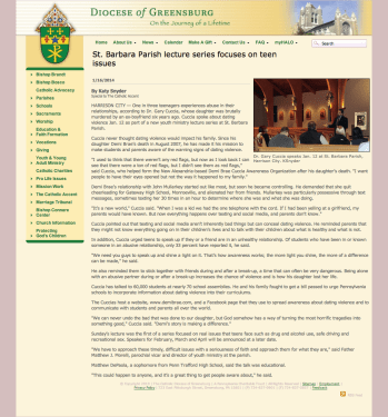 http://www.dioceseofgreensburg.org/accent/Pages/01-16-2014StBarbaraParishlecture.aspx