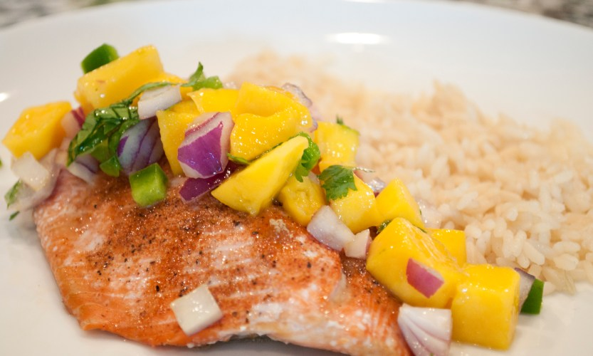 Salmon with Mango Salsa - Gallery Slide #1