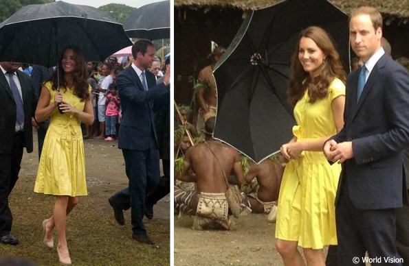kate at the solomon islands in yellow dress