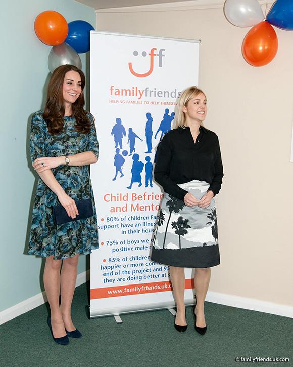 Kate visited Family Friends in Kensington
