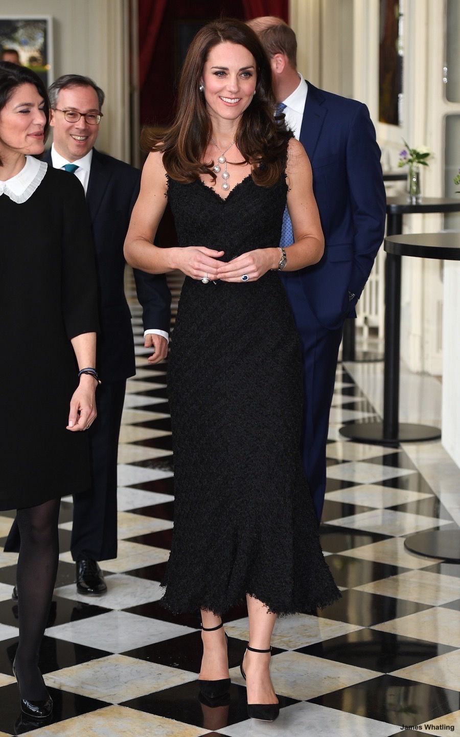 Kate Middleton in Paris wearing the Gianvito Rossi D'Orsay Pumps
