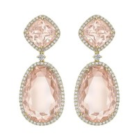 Kiki McDonough Morganite Double Drop Earrings  Kate