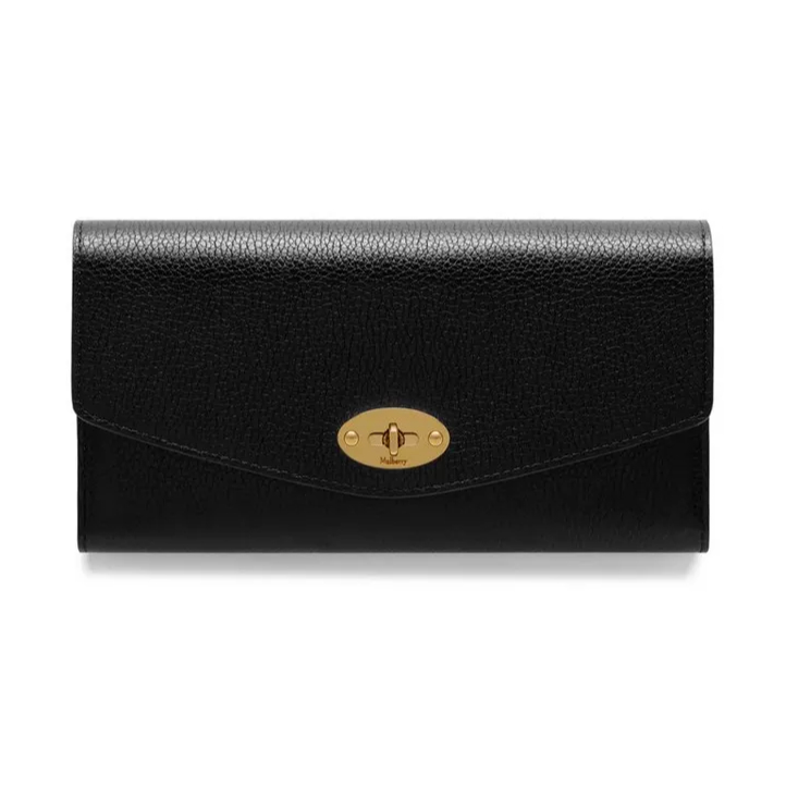 Mulberry Darley Wallet in Black Leather