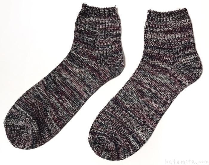 100均の靴下『メンズショートソックス(太糸MIX)』がシンプルで良い!