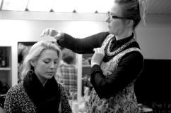 Jemma Bolt in make-up