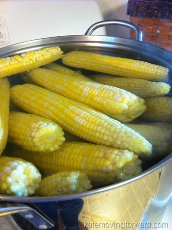 boiling corn for freezing