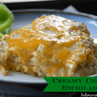 Creamy Chicken Enchilada Pie