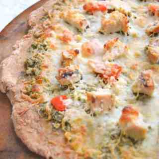 Chicken Garlic Pesto Pizza