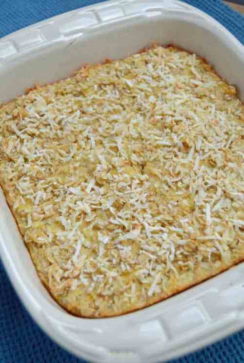 Baked Oatmeal with pineapple and coconut