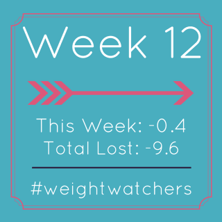 Weight Watchers Week 12