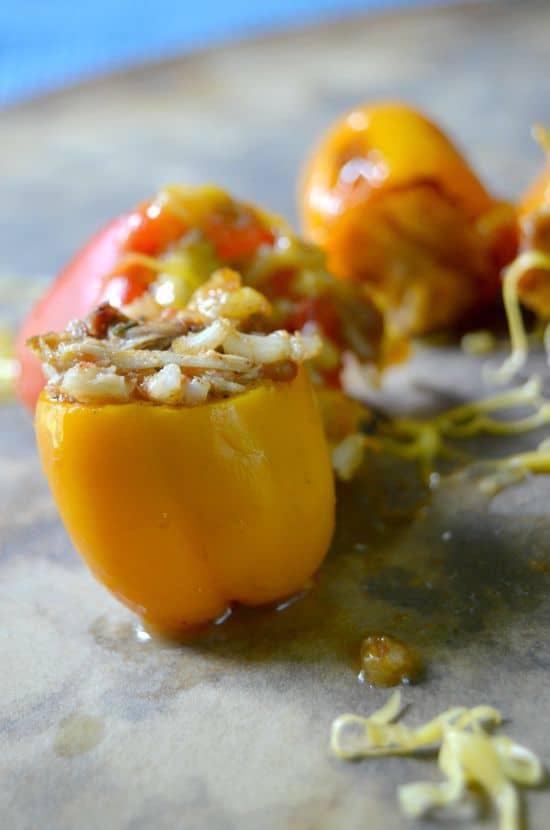 Mini Chicken Stuffed Peppers