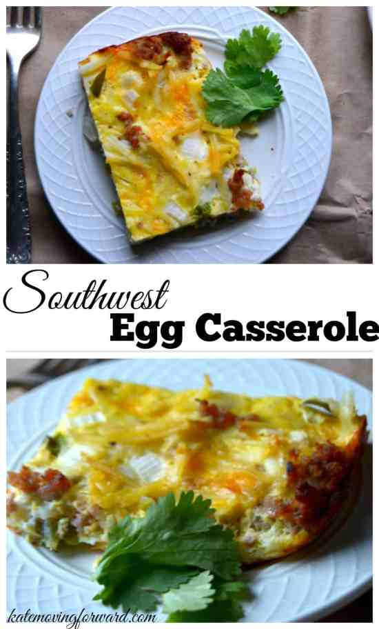 Southwest Egg Casserole-overnight hashbrown and egg bake perfect for Christmas morning!