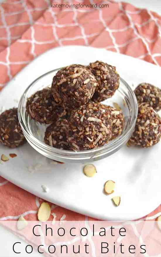 Chocolate Coconut Bites - a healthy snack that is delicious and perfect for curing your chocolate craving, it tastes like an almond joy bar! Sugar and gluten free! Ta