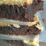 Homemade Brownies with Peanut Butter Frosting