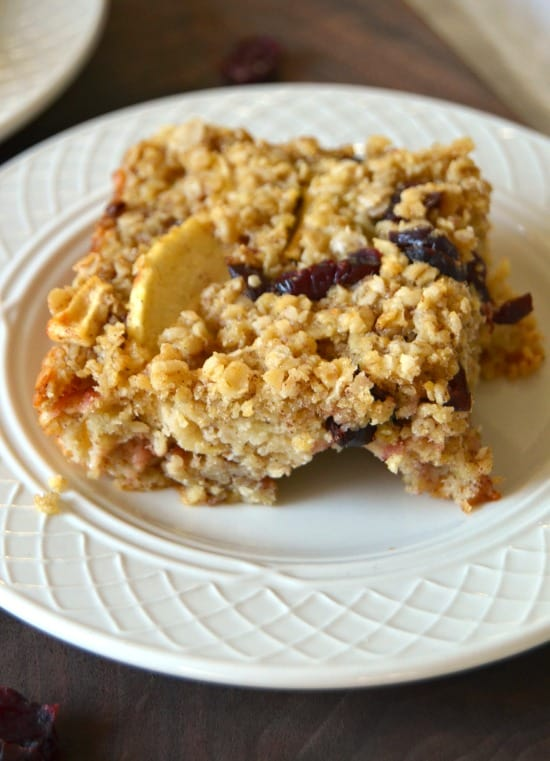 cranberry baked oatmeal
