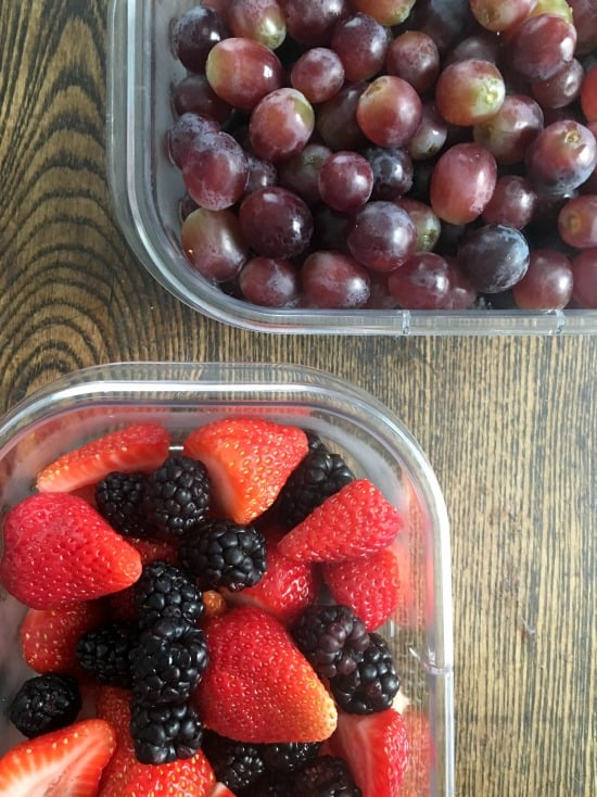 meal prep fruit